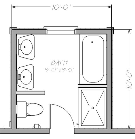 Floor Plan Small Bathroom by Small Bathroom Floor Plans With Both Tub And Shower