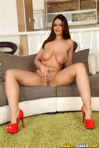 big titted woman is wearing high heels milf fox