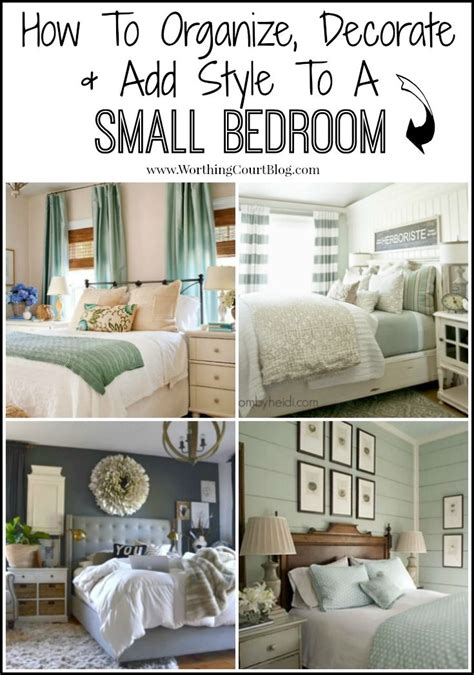 decorate organize  add style   small bedroom