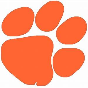 Tiger paw print stencil clipart best for Tiger paw template