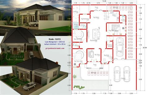 rumah  kamar tidur type   kupang jasa desain rumah