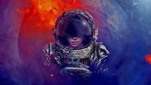 digital Art, Astronaut, Spacesuit, Helmet, Universe, Space ...