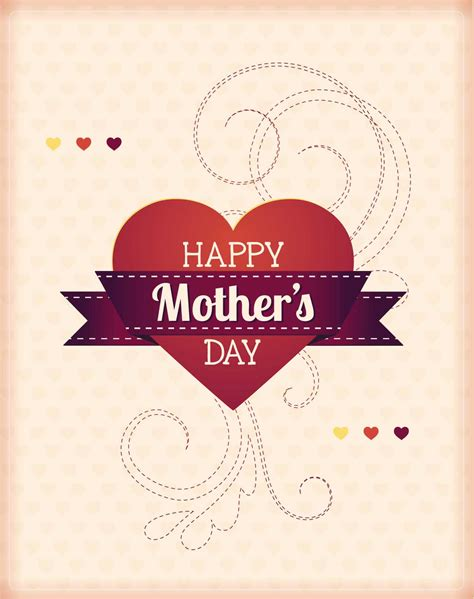 mothers day  hearts card vector