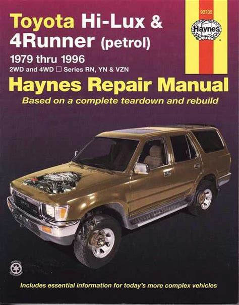 best car repair manuals 2001 toyota 4runner user handbook toyota hi lux 4runner petrol 1979 1996 haynes service repair manual sagin workshop car manuals