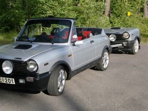 Lancia A112 Cabriolet With A112 Trailer Youtube