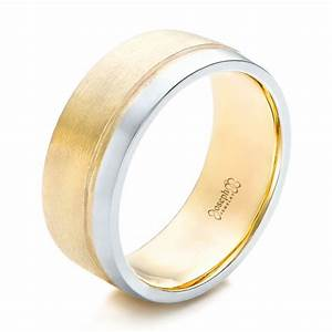 custom men39s platinum and mokume wedding band 102032 With men s two colour wedding rings