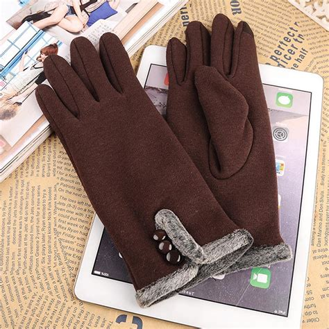 Elegant Female Wool Gloves Screen Touch People One Women