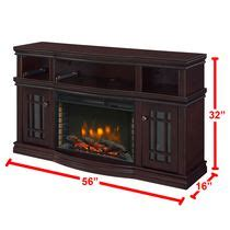 pleasant hearth riley media electric fireplace  inches