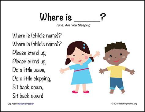 Back To School Songs For Preschoolers