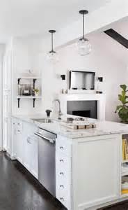 Peninsula Island Kitchen Kitchen Island Peninsula With Spice Shelves Transitional Kitchen