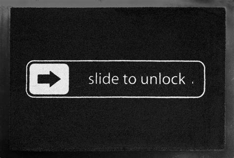 Slide To Unlock Doormat by Slide To Unlock Doormat 187 Gadget Flow