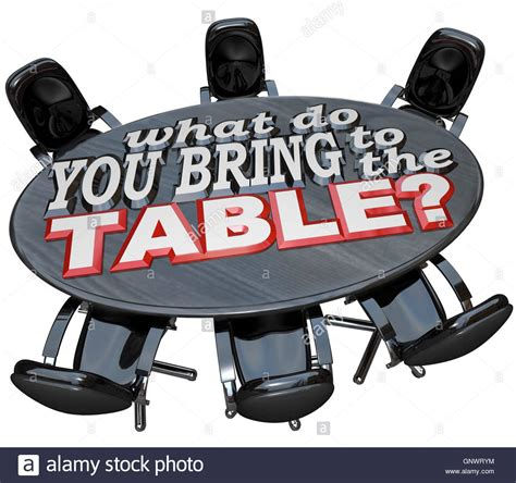 What Are You Bringing To The what do you bring to the table conference meeting chairs