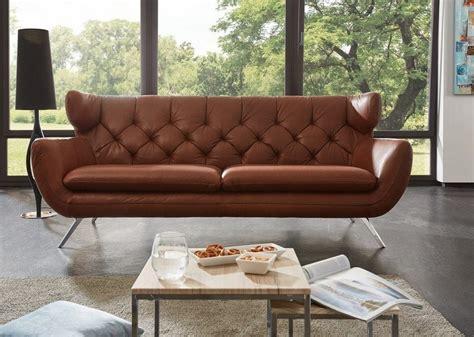 sofa leder kasper wohndesign sofa leder braun 187 charme 171 kaufen otto
