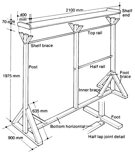 Free Standing Kayak Rack Plans by Woodworking Plans