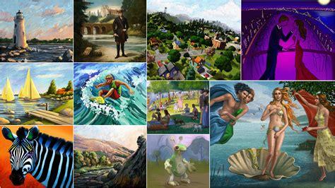 sims  paintings  recolors  custom paintings  sims