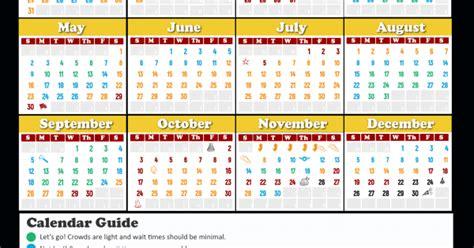 walt disney world crowd calendar love  mouse travel