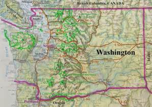 Washington State Road and Recreation Map - Washington State ... Washington