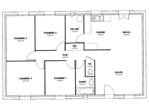 maison plain pied 4 chambres aide modele maison 4 chambres