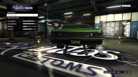 Car Customization On Gta V 'muscle Car'