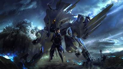 Mech Fantasy Artwork Battle Space Wallpapers Backgrounds