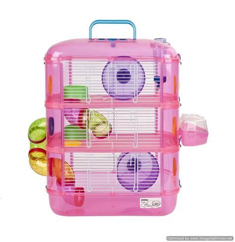 hamster gerbil triple storey cage pink leo  postage