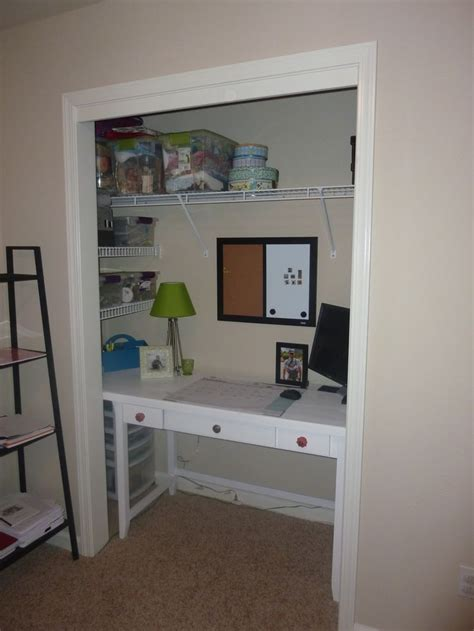 desk in a closet closet desk desk ideas pinterest