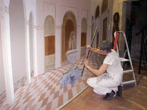 peinture murale trompe l oeil trompe l oeil deco peintre en decor languedoc roussillon fresque peinture murale toulouse