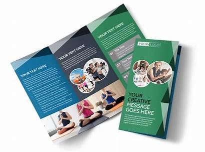 Brochure Wellness Center Template Templates Brochures Fold