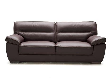 coussin décoratif pour canapé canapé fixe en cuir de vachette valentina chocolat 3 places