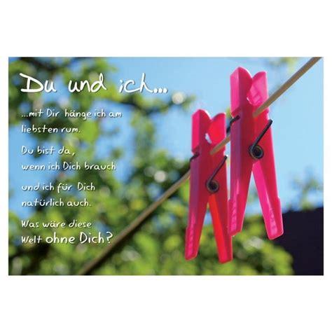 poetische postkarte liebe lustig du und ich mit dir