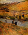 Breton Fisherman - Paul Gauguin - WikiArt.org ...