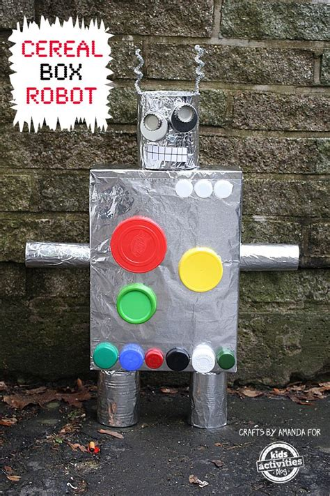 recycled crafts cereal box robot kid activities box 836 | c405427ed5a94ac9480dc96a2027b88e