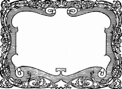 Scroll Frame Clip Funky Clipart Transparent Svg