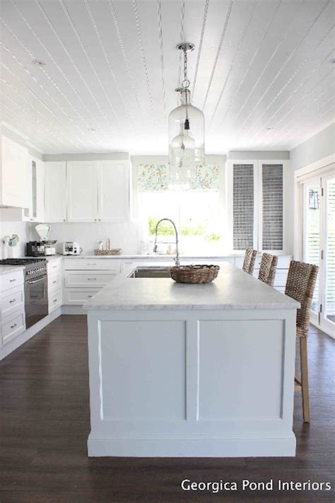 Kitchen with Beadboard Ceiling