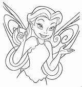 Coloring Disney Fairy Pages Fairies Printable Sheet Face Channel Pixie Tinkerbell sketch template