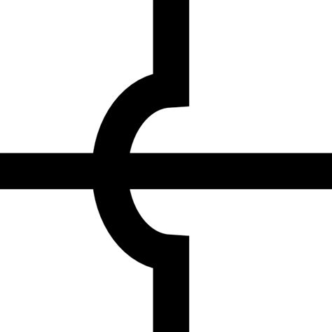 Electronic Circuit Crossing Symbol Clip Art Clker
