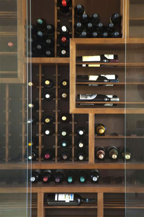 sleek contemporary wine cabinets  enhance  interior