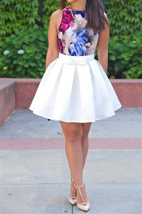 White Skater Skirt with Bow by KTRcollection | KTRCOLLECTION | Pinterest | Skater skirt Minis ...