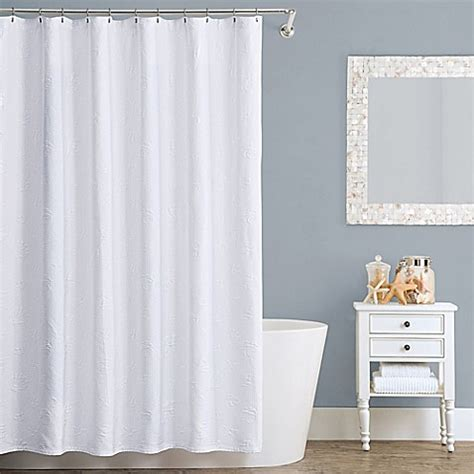 cotton shower curtains lamont home seaspray cotton shower curtain bed bath
