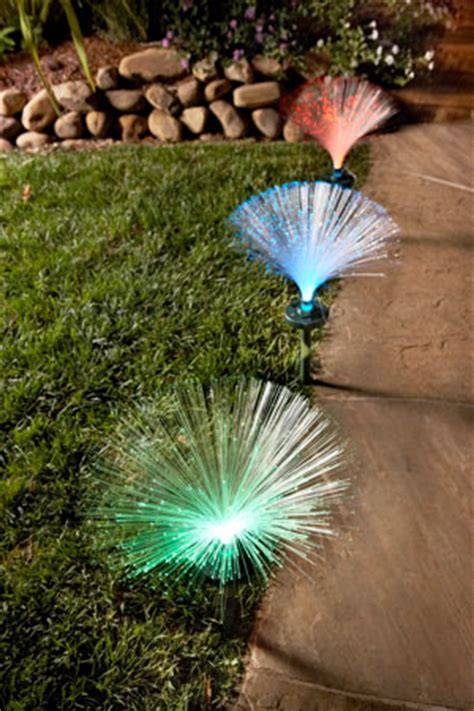 solar fiber optic decorative outdoor light from four