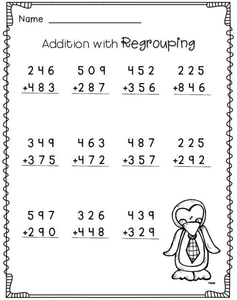 2nd grade math worksheet subtraction with borrowing addition with regrouping 2nd grade math worksheets free