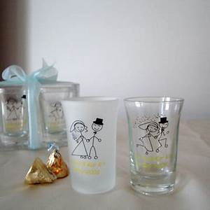Personalized Shot Glass Wedding Favors Personalized