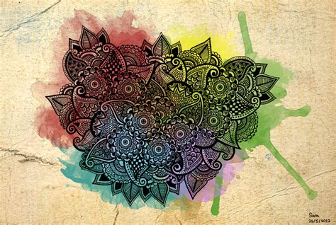 colorful henna colorful henna by pen it black on deviantart
