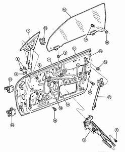 Chrysler Sebring Motor  Window Regulator  Right   Windows
