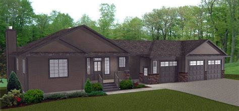 HOUSE PLAN 2010526 RANCHER STYLE BUNGALOW WITH WALKOUT