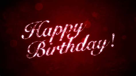 happy birthday  red hd motion graphics background loop