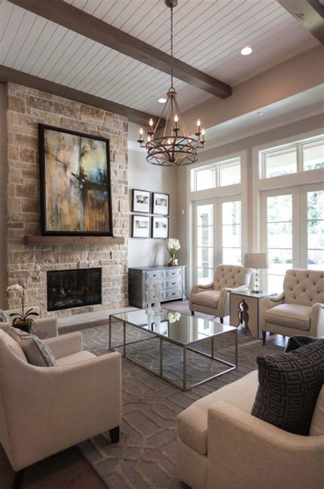 gorgeous woodlands reserve home features warm  inviting