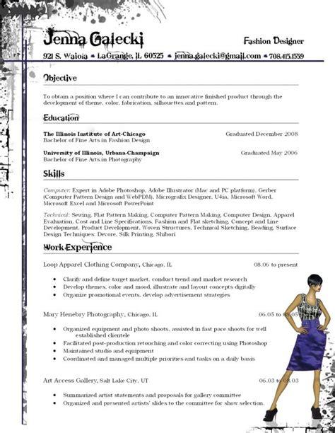 Fashion Designer Resume by Fashion Resume Fashion Stylist Resume Design Fashion
