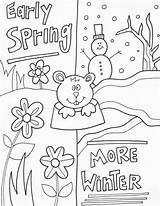 Groundhog Spring Worksheets Winter Worksheet Coloring Pages sketch template