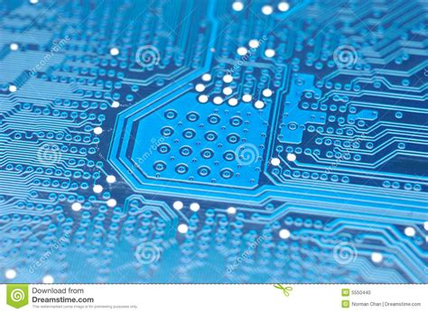 Blue Circuit Board Stock Photo Image Card Display